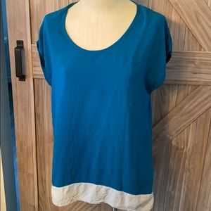 Merona Short Sleeve Blouse with color blocking